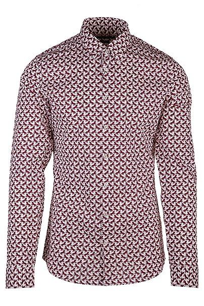 Gucci camisa de mangas largas hombre nuevo horse print blanco EU 42.5 (UK 8.5)