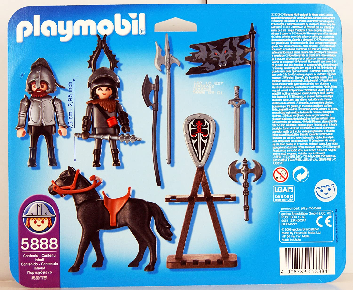 Amazon.com: Playmobil Knights with Horse, Armor and Accessories 28 ...
