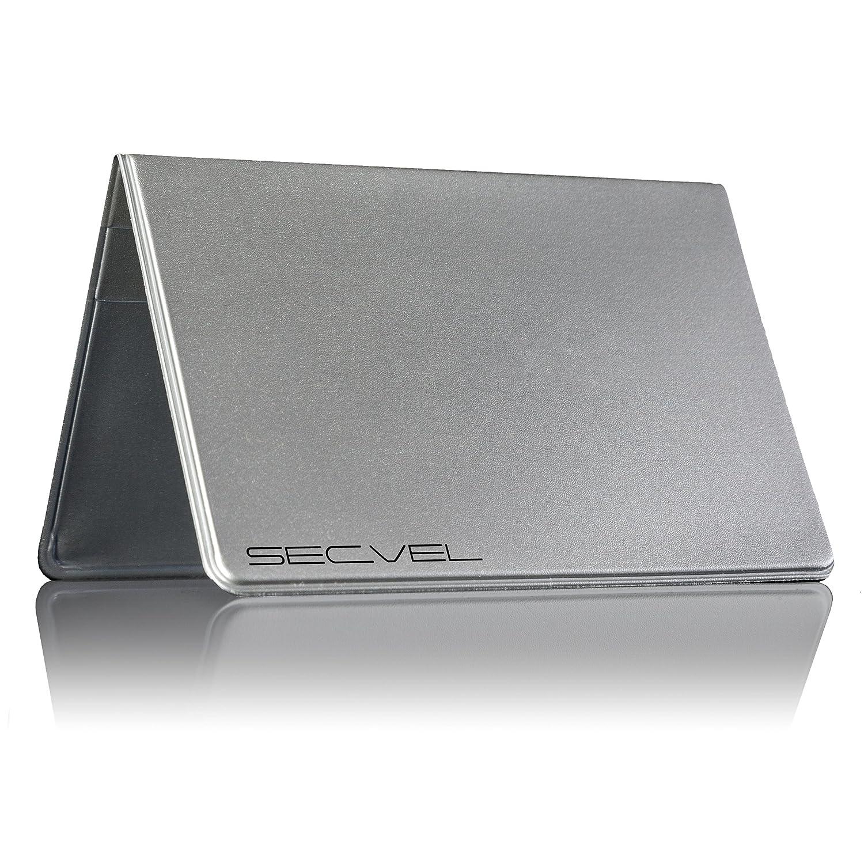 SECVEL - LeNOUVEAU et AME´LIORE´ Porte-cartes 'Comfort' – protection RFID/NFC et champs magnétiques - gris (pour 2 à 4 cartes) SECVEL Technologies GmbH