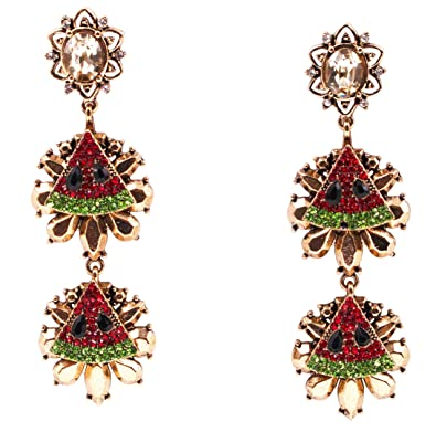 90e459531 Amazon.com: Sparkling Ruby Red Crystal Vintage Trendy Fruit ...