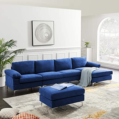 Convertible Sectional U-Shaped Sofa Couch Modern Sectional Sofa Set