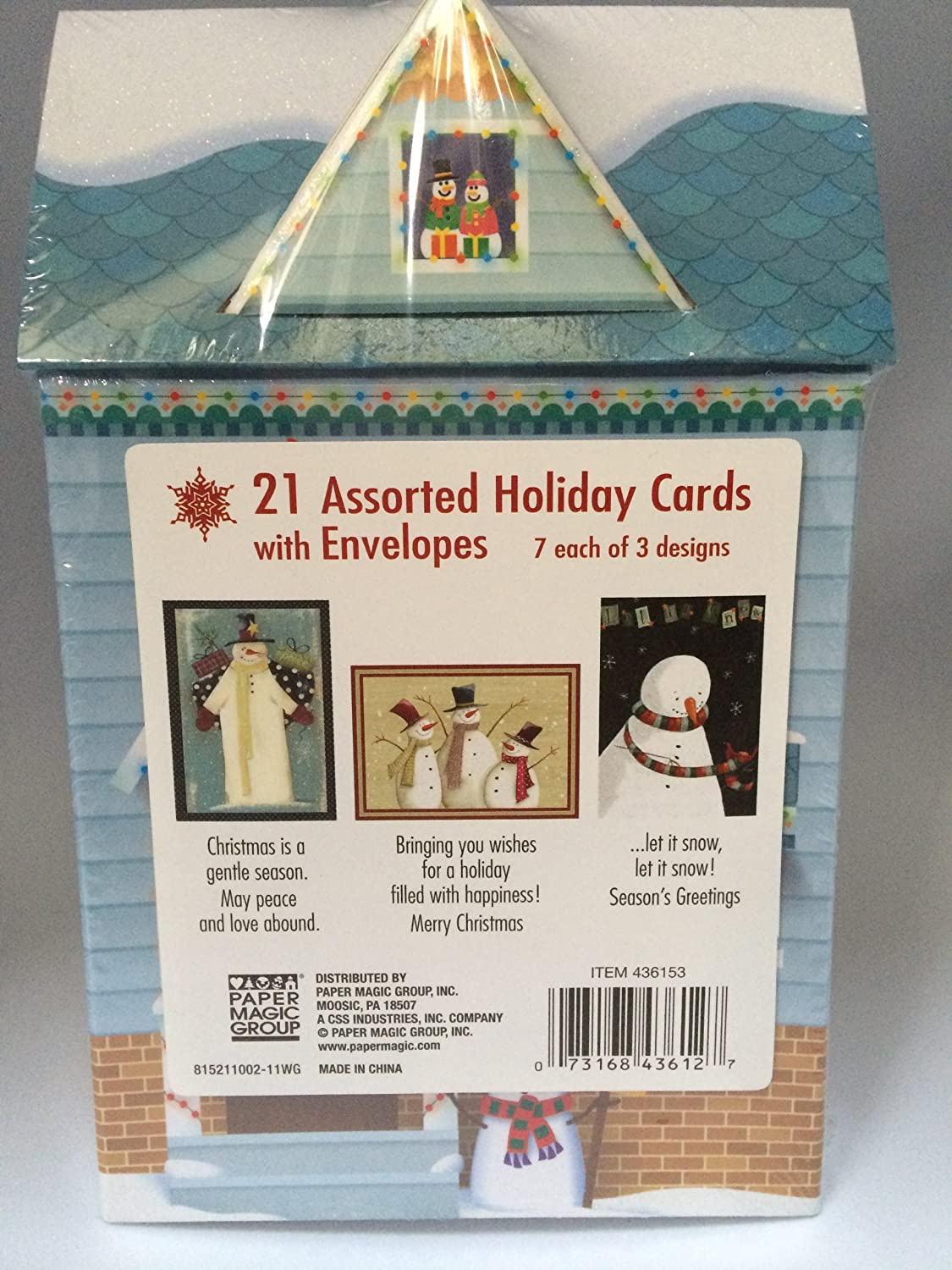 Amazon.com : 21 Assorted Holiday Cards with Envelopes in Keepsake ...