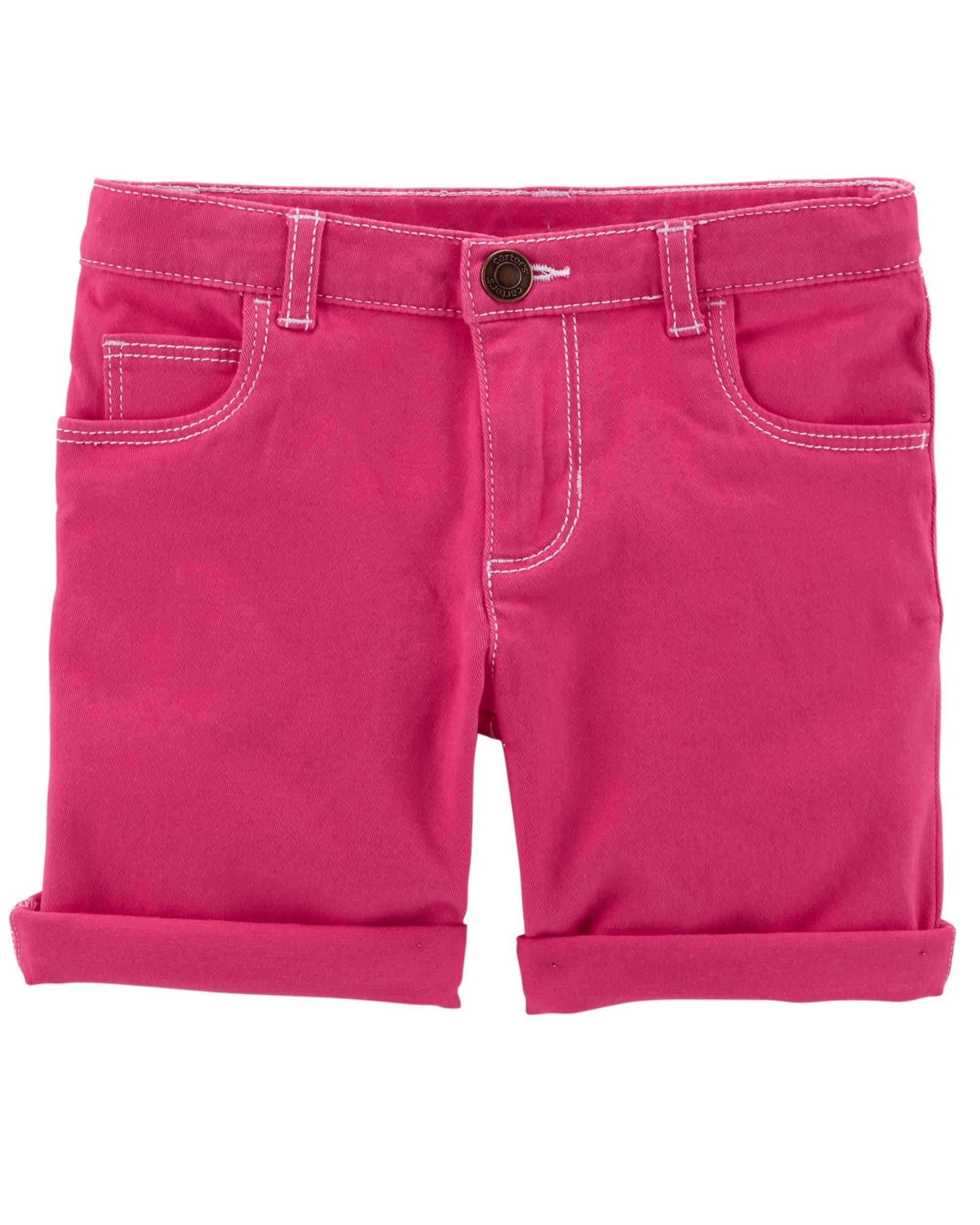 Carter's Girls' Stretch Skimmer Shorts (2T, Pink)