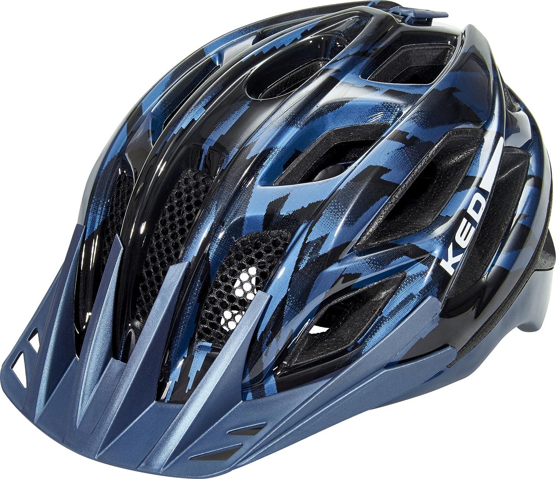 KED Companion Helmet schwarz Blau Glossy 2018 Fahrradhelm