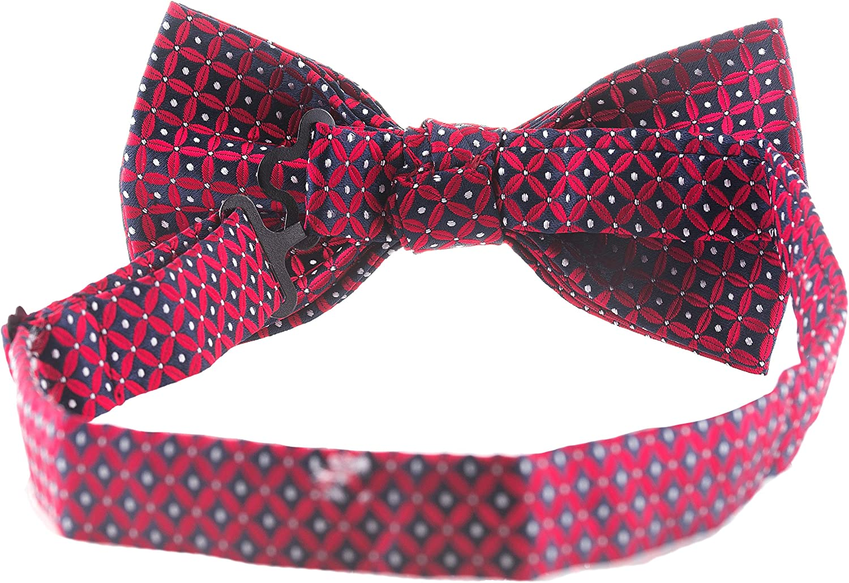 Man of Men Mens Bowtie Red Diamond Geometric Bow Tie