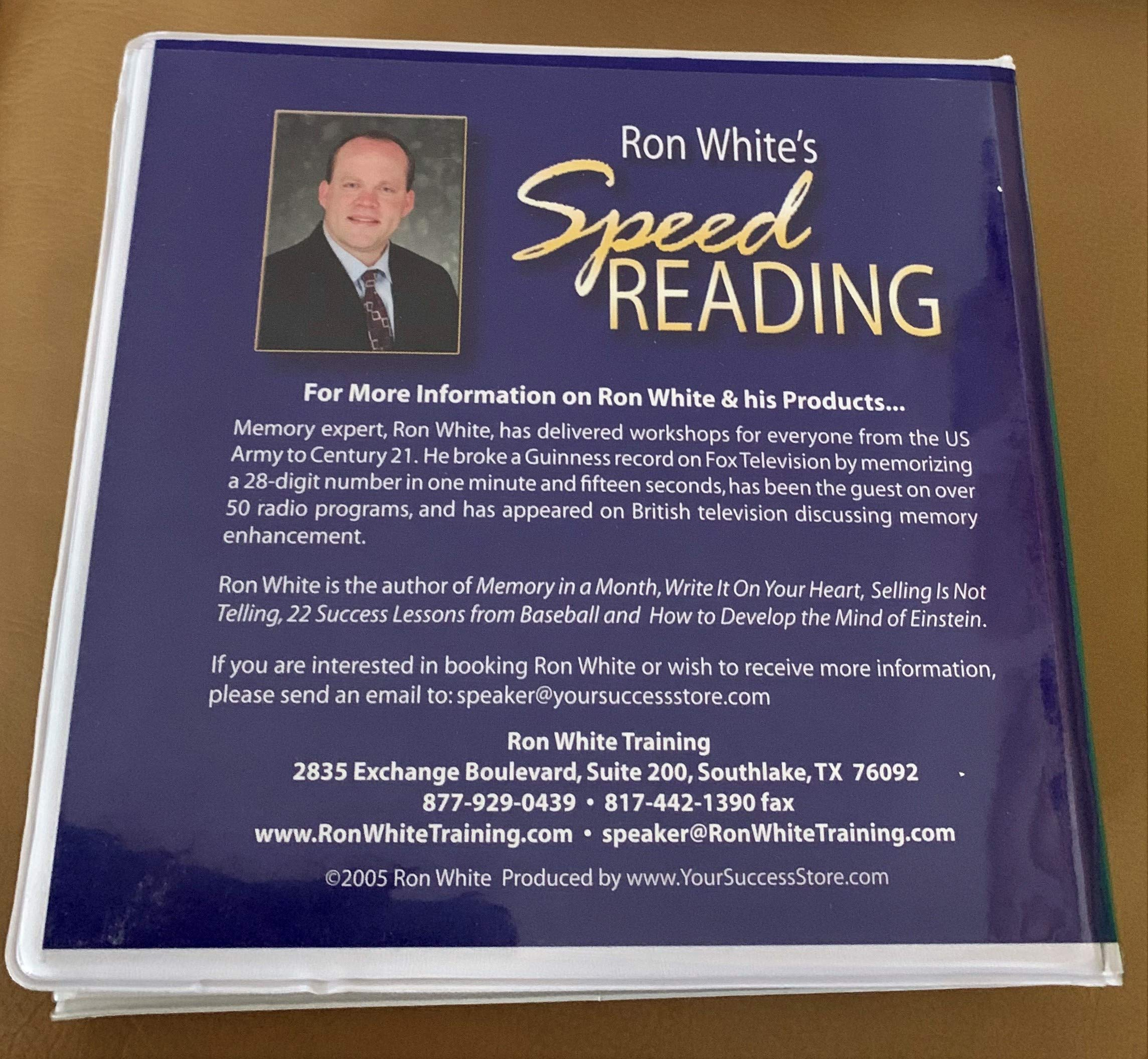 Ron Whites Speed Reading; a Systematic Plan to Read Faster ...
