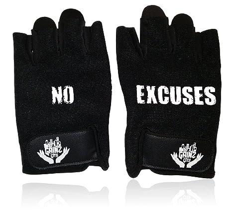gainzcity ligero Athletic de motivación fitness ejercicio guantes w/antideslizante agarre para levantamiento de pesas