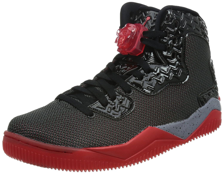 Nike Herren Air Jordan Spike Forty PE Turnschuhe, Talla  46 EU|Schwarz / Rot / Grau (Schwarz / Fire Red-cement Grau)