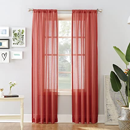 918 Cory Open Weave Cotton Sheer Curtain Panel 50quot X 84quot