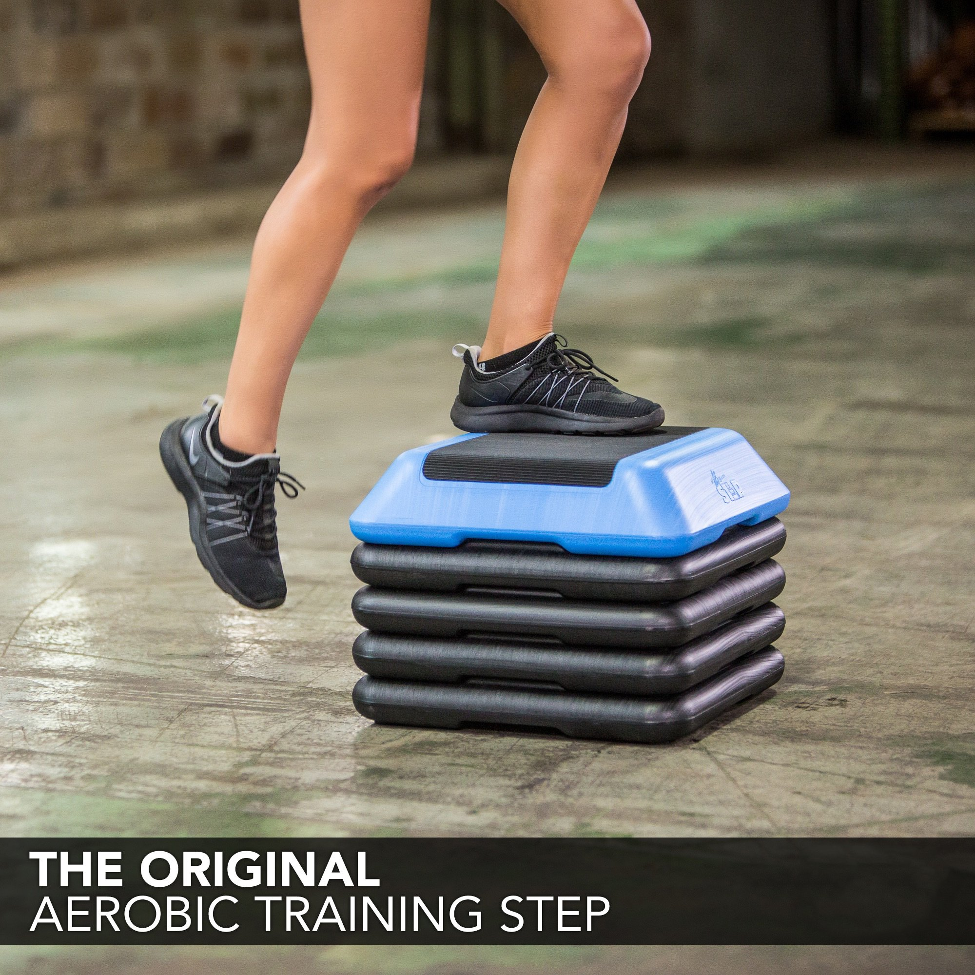 The Step High Step Aerobic Exercise Nonslip Platform Includes 4 Risers and Streaming Workout Videos by The Step (Image #6)