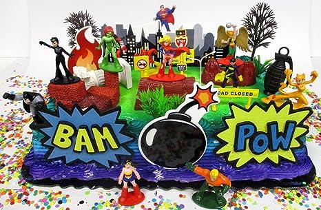 Pleasing Amazon Com Cake Toppers Dc Comics Super Hero Girls Birthday Set Funny Birthday Cards Online Kookostrdamsfinfo