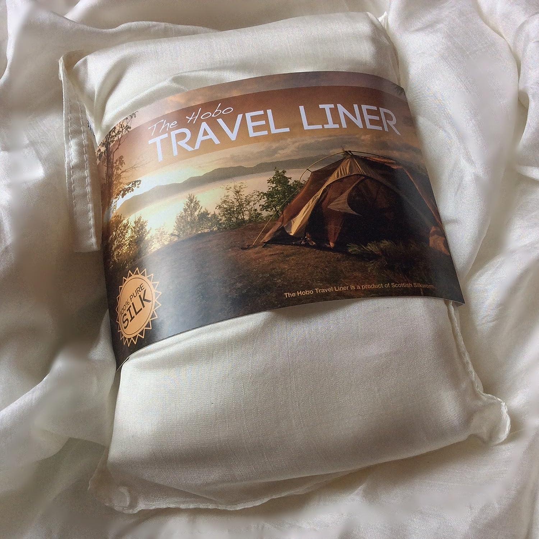 Hobo Pure Silk Sleeping Bag Liner (Not part of Hobo International) Scottish Silkworm