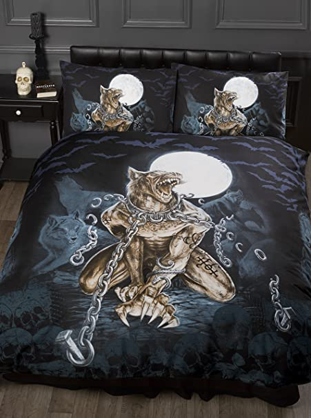 Double Bed Loups Garou Alchemy Gothic Duvet Quilt Cover Bedding