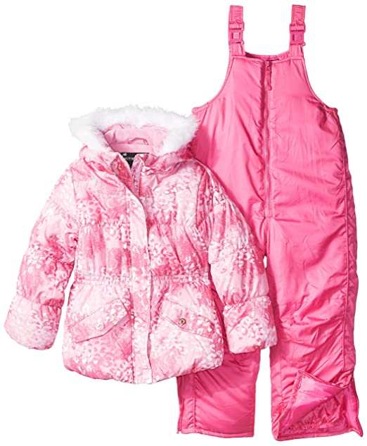 2c273d5922d0 Rothschild Little Girls  Snowsuit with Printed Puffer Coat