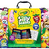 Crayola Silly Scents Scented Mini Art Case Set, Includes 16 Mini Twistables Crayons, 8 Slim and 8 Broad Line Washable Scented Markers, 20 Coloring Pages in a Durable Storage Case!