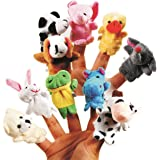 Skylofts Cute Animal Finger Puppet, Multi Color (Animal Puppet ( 10pcs))