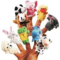 Skylofts Cute Animal Finger Puppet, Multi Color (Animal Puppet ( 10pcs))