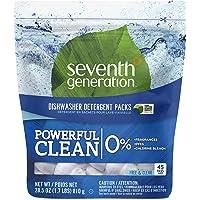 45-Count Seventh Generation Fragrance Free Dishwasher Detergent Packs