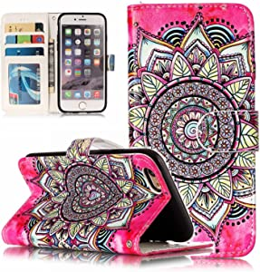 iPhone 6S Case,iPhone 6 Case, Dooge Cameo Design Shockproof [Kickstand Feature] Premium PU Leather Flip Folio Wallet Case with with ID&Credit Card Pockets Cash Clip, Magnetic Closure for iPhone 6S/6