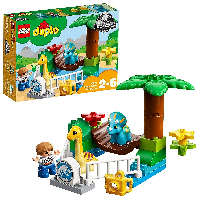 LEGO UK 10879 DUPLO Jurassic World Gentle Giants Petting Zoo Set