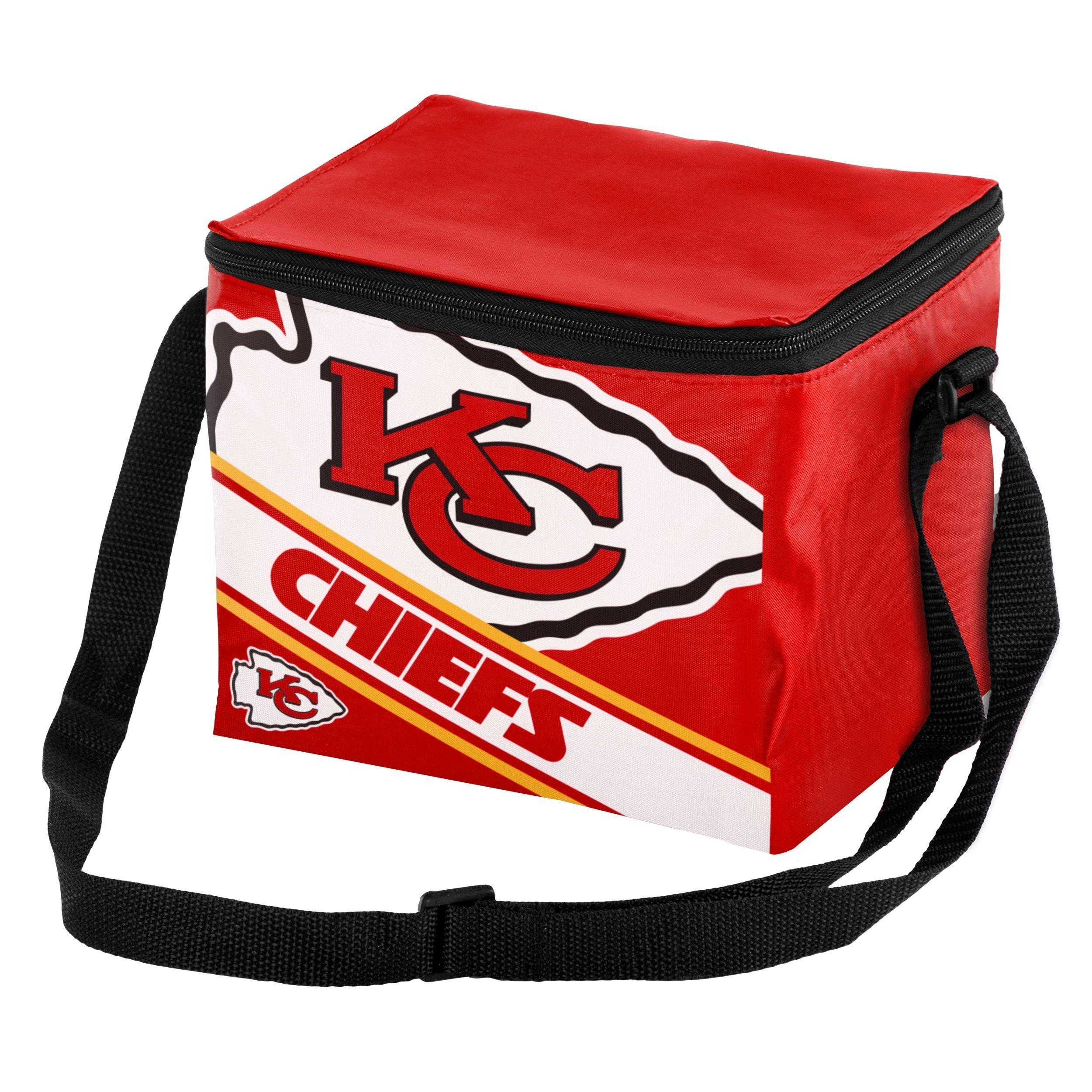Kansas City Chiefs Big Logo Stripe 6 Pack Cooler