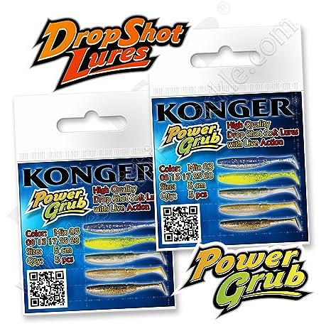 Soft Rubber Lures 5cm 2/'/' Drop Shot Bait Jig Head Perch Pike Fishing Shad