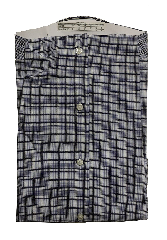 Hugo Boss BOSS Regular Fit Point Collar Checked Dress Shirt Blue Multi