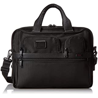 TUMI - Alpha 2 Tumi T-Pass Expandable Laptop Brief Briefcase - 15 Inch Computer Bag for Men and Women - Black
