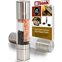 Lifestyle Dynamics Dual Salt and Pepper Grinder Mill Set Steel