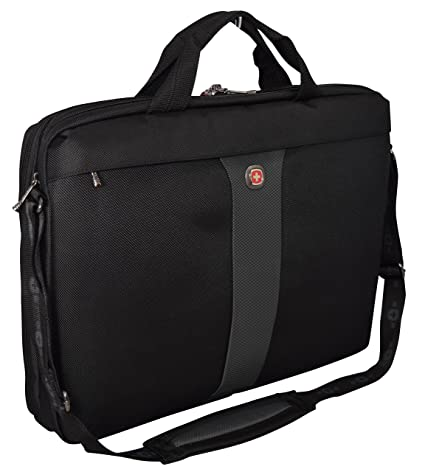 "56ef19968 Image Unavailable. Image not available for. Color: Wenger SwissGear Legacy  17"" Double Slimcase Computer Laptop Bag/ Business Briefcase-Black/"