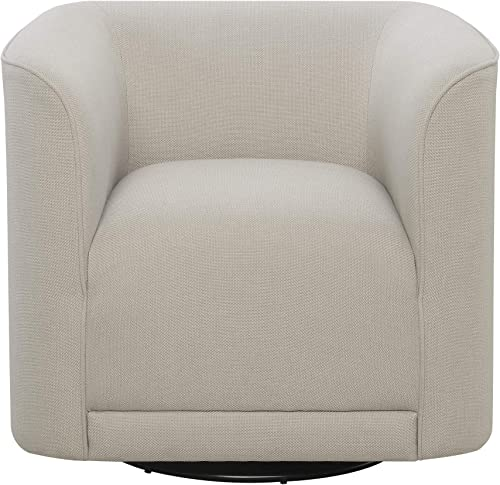 Juno Swivel Accent Chair in Cream with 360 Swivel And U Shape, by Artum Hill