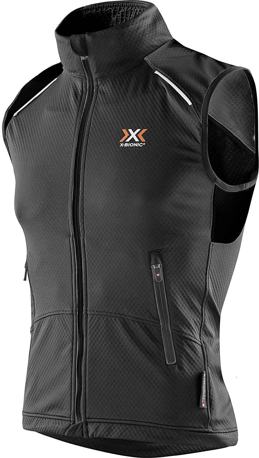 X-Bionic W Crosscountry spherewind Light OW Vest – Chaleco para Hombre, Hombre, W_Crosscountry Man SPHEREWIND Light OW Vest, Negro