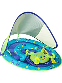 SwimWays Baby Spring Float Activity Center with Canopy -  Blue/Green Octopus