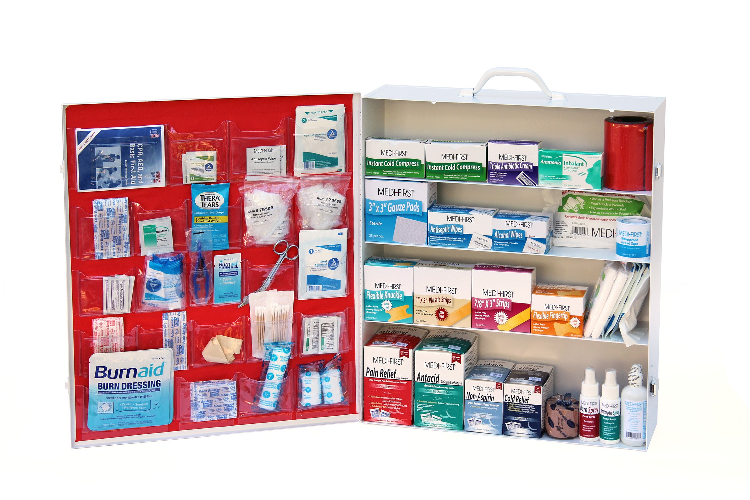 Medique Products 703ANSI Filled Four Shelf Wide First Aid Kit by Medique