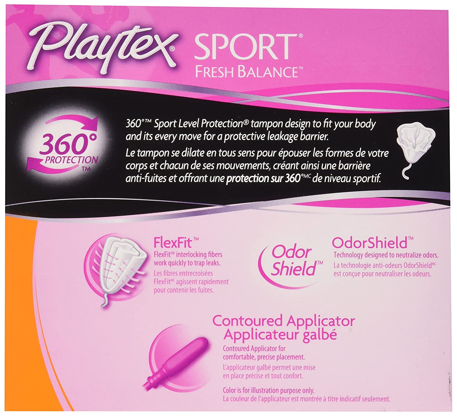 91be86851fe3e9 Amazon.com: Playtex Sport Fresh Balance Tampons with Odor Shield  Technology, Super, Scented - 32 Count: Health & Personal Care