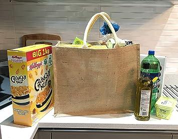 Bolsa grande de yute de arpillera para la compra/bolsa de ...