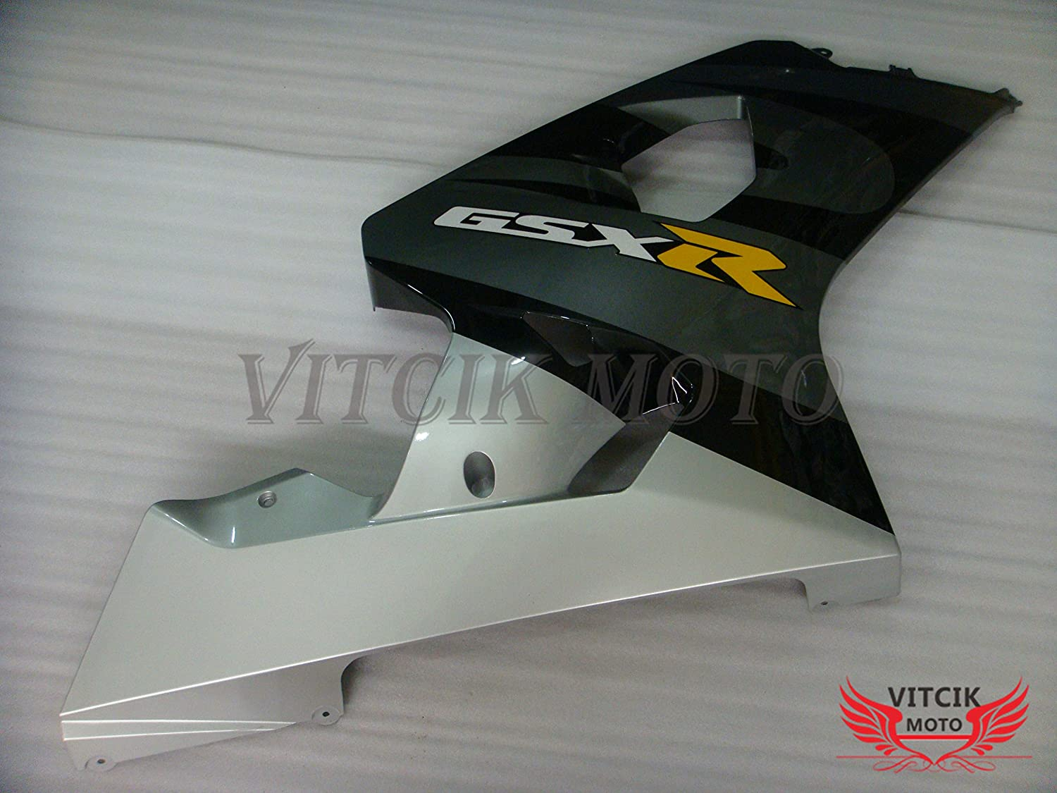 VITCIK Black /& Gray Fairing Kits Fit for Suzuki GSX-R750 GSX-R600 K4 2004 2005 GSXR 600 750 K4 04 05 Plastic ABS Injection Mold Complete Motorcycle Body Aftermarket Bodywork Frame A055