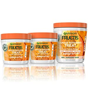 Garnier Hair Care Fructis Papaya Hair Treat Mask - 1 400mL + 2 100mL Kit