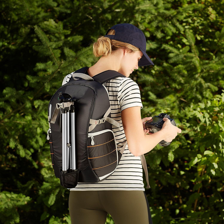 Basics Trekking-Ausr/üstung Schwarz Kamera-Rucksack