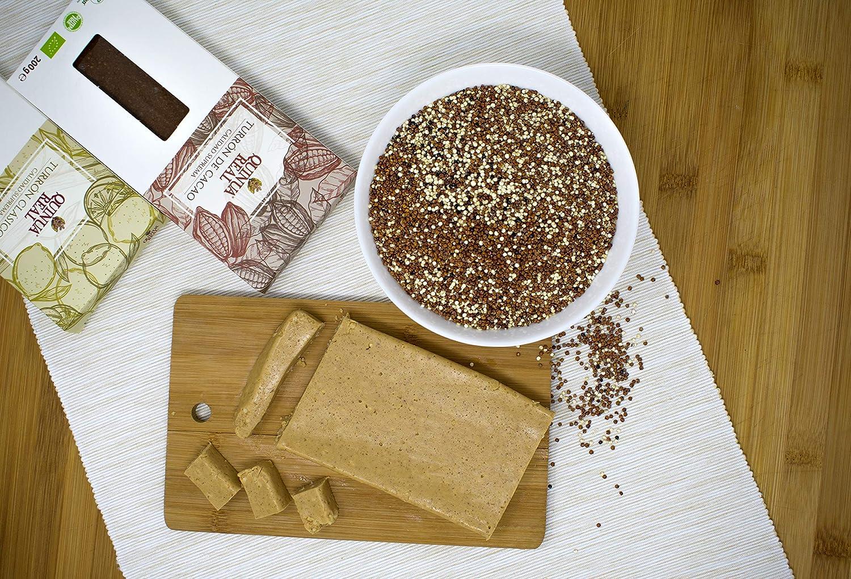 Turrón quinoa real con Cacao - vegano - sin gluten - 200 gr.: Amazon.es: Alimentación y bebidas