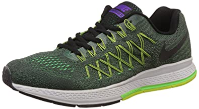 online store 0a402 ef007 Nike Men's Air Zoom Pegasus 32 Lime and Black Running Shoes ...