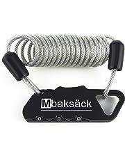 Mbaksäck Lock Candado antirrobo de combinación con Cable para Equipaje Mochila Bicicleta Casco Multifuncional