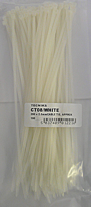 Simply Colliers de serrage CT08/blanc, blanc CT08/WHITE