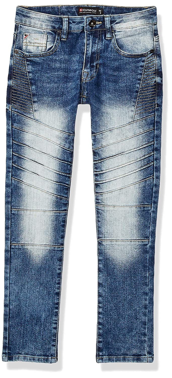 Southpole Boys Big Slim Stretch Biker//Moto Denim Pants