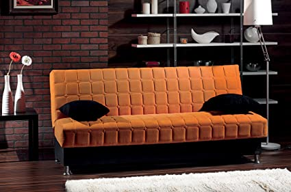 BEYAN Rio Collection Upholstered Chenille Sofa Bed With Storage, Solid Wood  Frame, And Steel