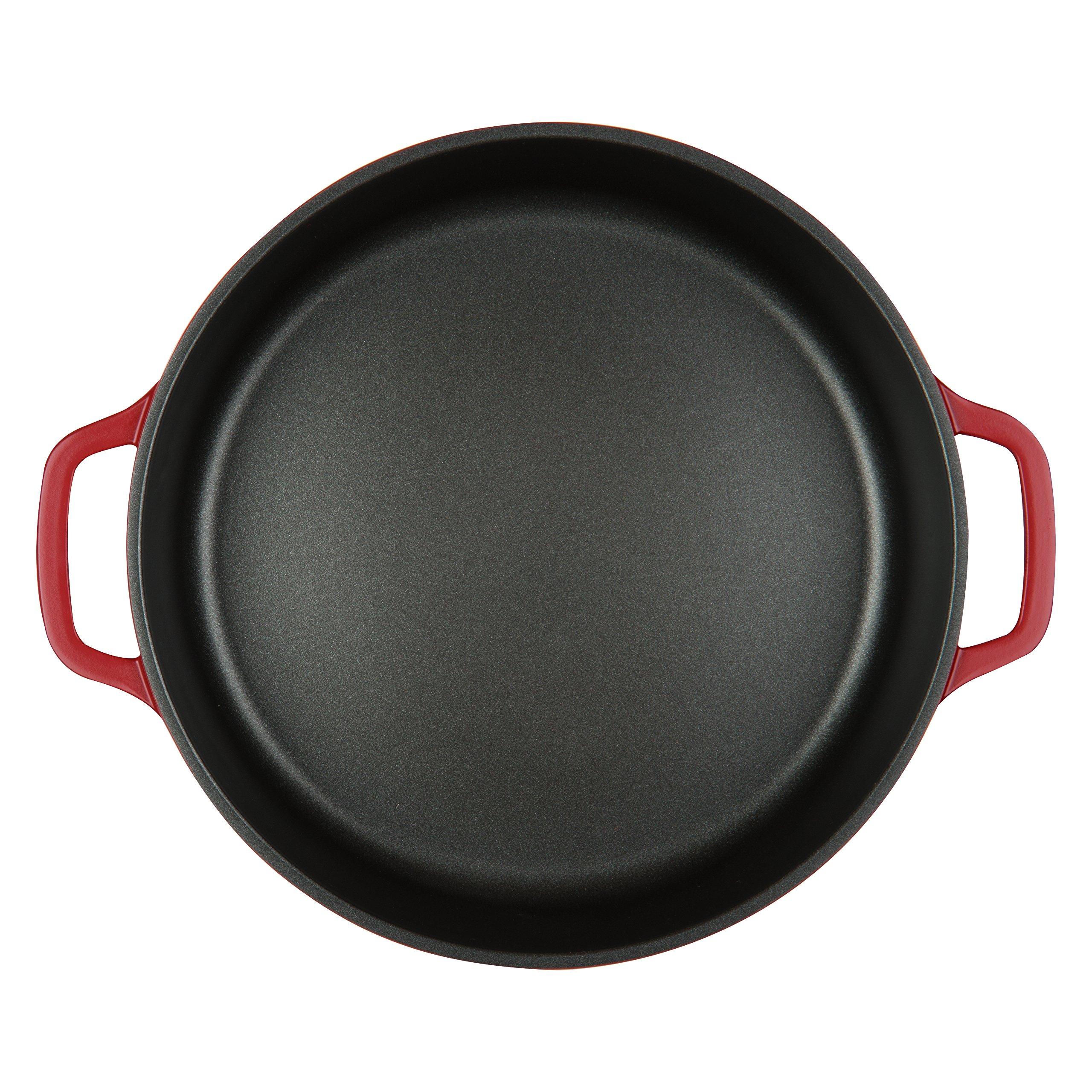 MasterPan 4QT Non-Stick Cast Aluminum Dutch Casserole, 11'', Red by Master Pan (Image #3)