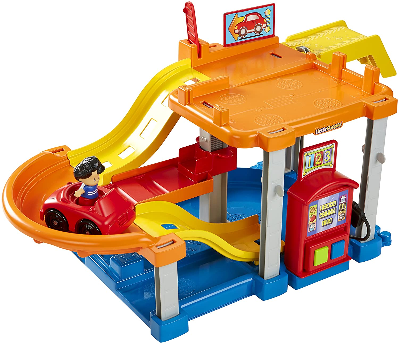 Fisher Price Little People Rollin' Ramps Garage