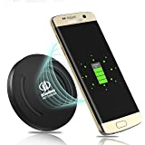 Fast Wireless Charger,KimHee Fast Charge QI Wireless charging pad.more Fast,and Light.built-in wireless charging receiver.Stand for Samsung iphone,etc,Compatible with Standard Qi-enabled devices