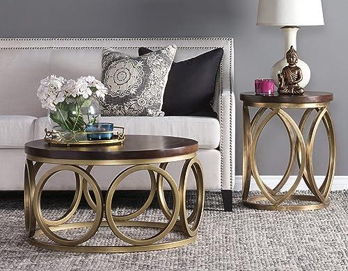 Editors' Choice: Benjara Round Wooden Top Coffee Table