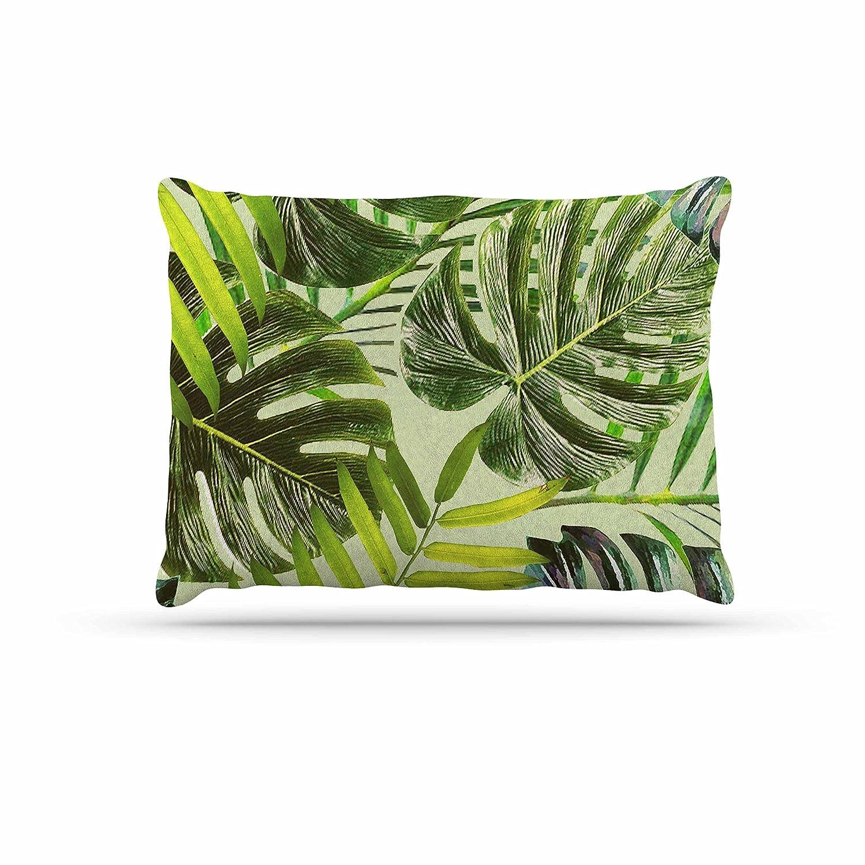 KESS InHouse Ann Barnes Cactus Jungle II Green Beige Photography Dog Bed, 30  x 40